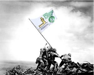 Manifesto ideato da Patrizia Nuvolari per la battaglia referendaria contro il pirogassificatore.