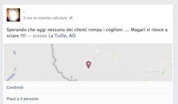 Trovato su facebook e trattasi di operatore turistico valdostano.