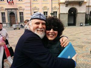 Moni Ovadia con Patrizia Nuvolari.