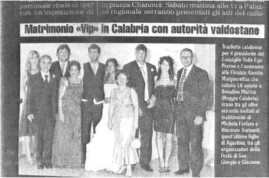 Matrimonio di Michela Furfaro e Vincenzo Tramonti, figlio di Agostino uno degli organizzatori della Festa di San Giorgio e Giacomo.